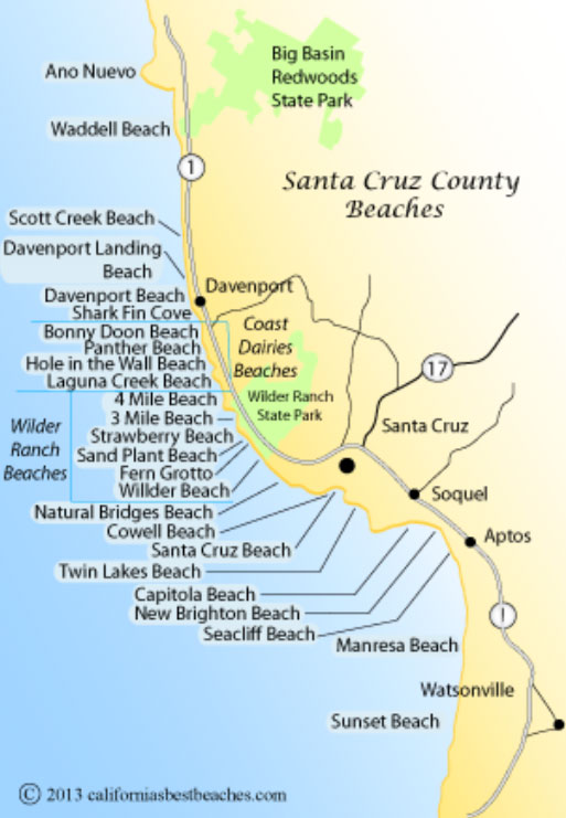 Santa Cruz California Map.Map Sand Dollar Beach